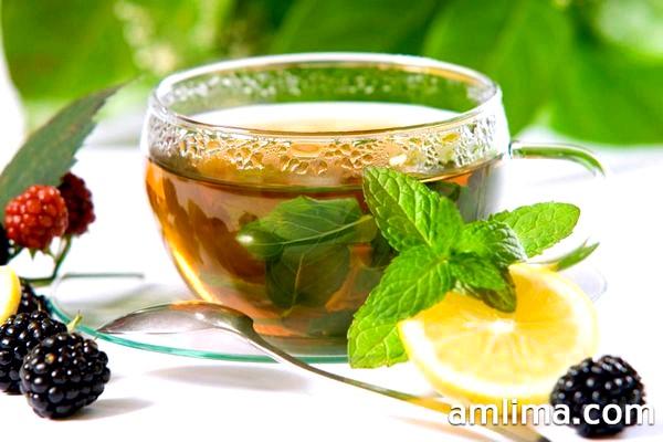 Чай улун для схуднення з лимоном і листочками м`яти