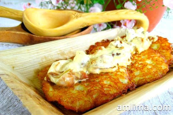 Деруни з картоплі з цибулею