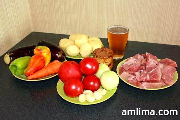 Продукти для хашламу зі свинини
