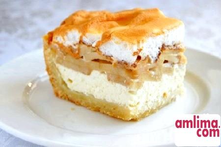 рецепт пирога з сиром і яблуками
