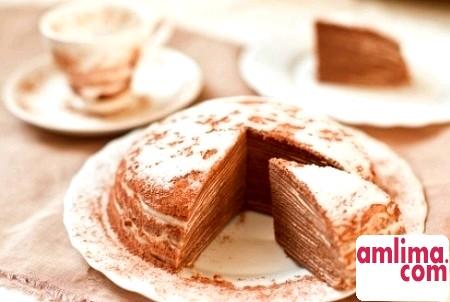 Млинцевий торт крепвіль - ніжний французький десерт