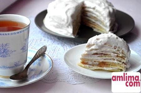 Млинцевий торт із заварним кремом: за мотивами французької кухні
