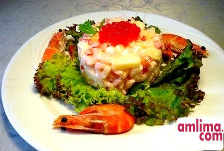 Блюдо дня: салат з креветками і кукурудзою