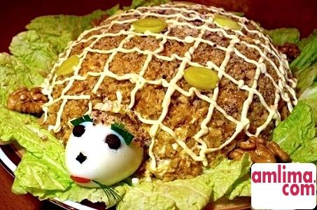 Cалат черепаха - рецепт для будь-якого свята!