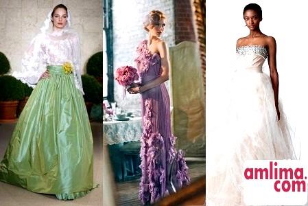 Колір весільного плаття відповідно до деколі року