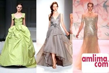 весільні сукні кольорові 2015
