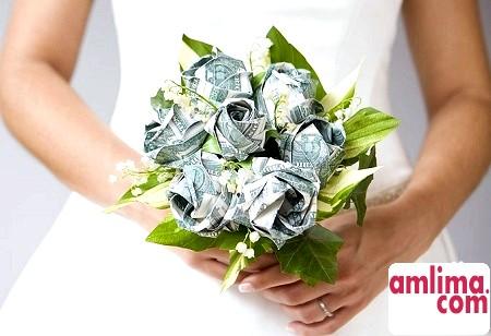 Квіти з грошей своїми руками: букет троянд