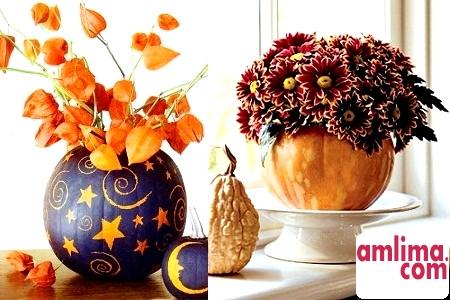 Декоративні вироби з засушеної гарбуза для вашого будинку
