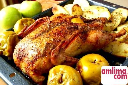 Гусак з яблуками в духовці - інструкція для початківців кулінарів