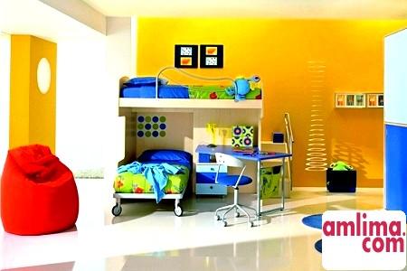 Інтер'єр дитячої кімнати для двох дітей: поділ чи об'єднання?