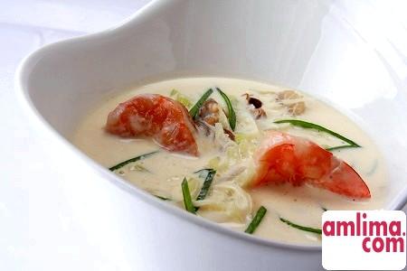 вершковий суп з морепродуктами