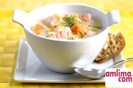 вершковий суп з морепродуктів