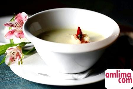 вершковий суп з морепродуктів рецепт