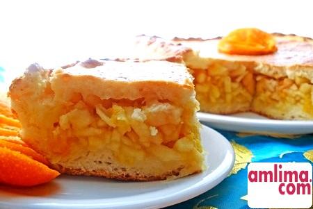 Яблучний пиріг з апельсинами - такі різні рецепти