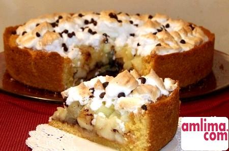 яблучний пиріг з безе
