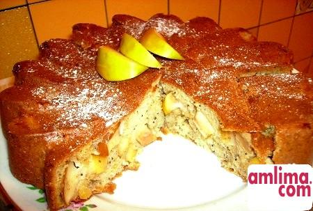 яблучний пиріг на сметані