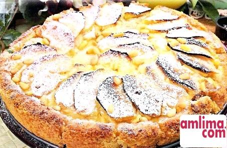 пиріг на сметані з яблуками