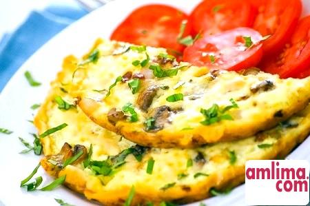 омлет рецепт з борошном