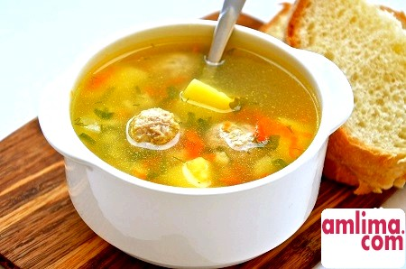 Як приготувати в мультиварці суп з фрикадельками?