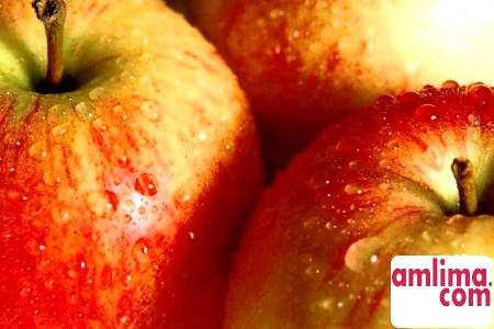 маска з яблук і меду
