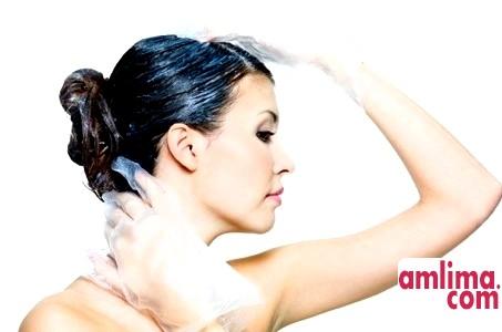 змити чорну фарбу з волосся