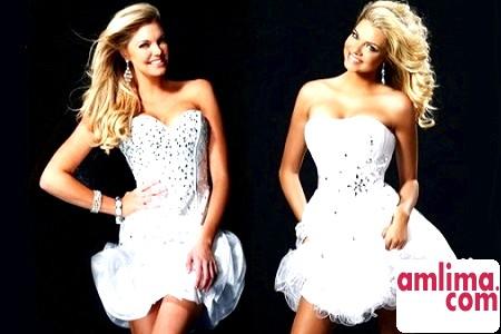 Короткі весільні сукні 2015: сміливі рішення
