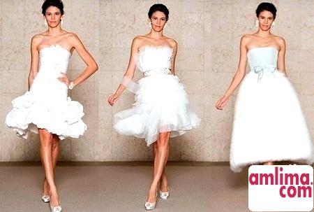 коротке весільне плаття 2015