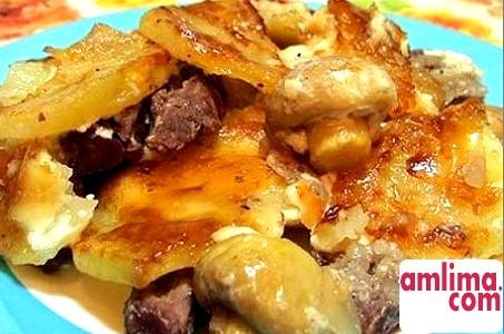 картопля по французьки з м`ясом