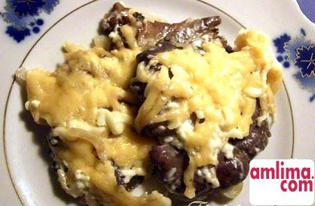 рецепт м`яса по-французьки з картоплею