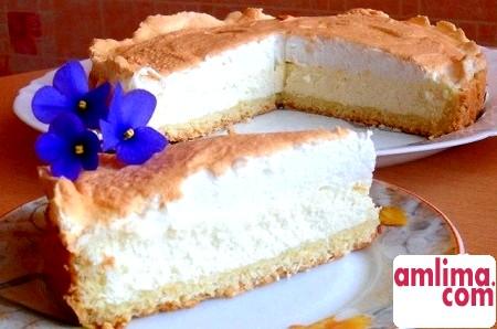 Ніжний сирний торт