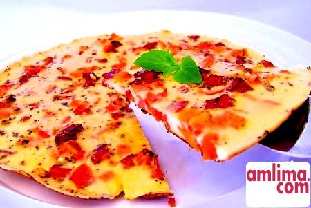 Омлет з ковбасою: смак ситного сніданку