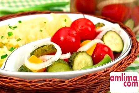 Рецепт приготування овочів в маринаді