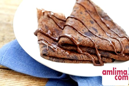 Рецепти приготування шоколадних млинців