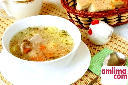рецепт супу з рисом і куркою