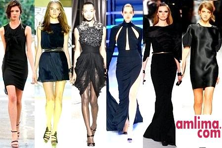 як носити чорне трикотажне плаття