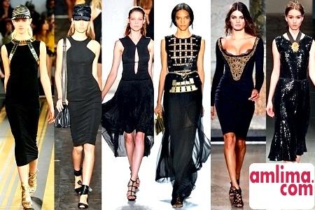 як носити чорне плаття
