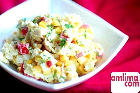 Салат із крабових паличок і китайської капусти - від простого до складного