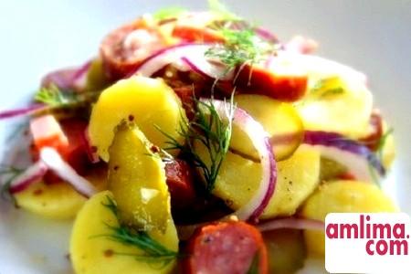 Салат картопляний німецька. Кращі рецепти