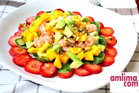 Салат з манго і креветками - пікантна кулінарна вишуканість