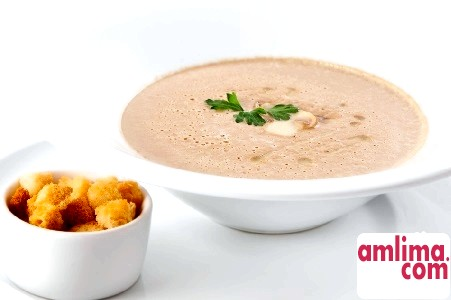 Суп-пюре з грибів