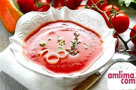 Томатний Суп пюре. Рецепти для спекотного літа