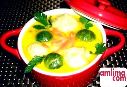 Суп з сочевіцею и брюсельської капусти. Смачно і корисне!
