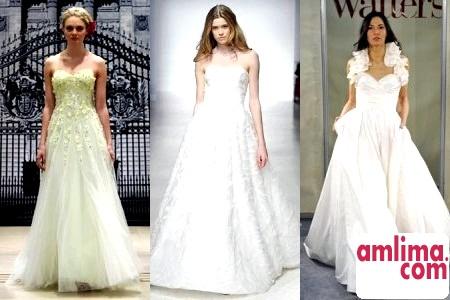 Весільна мода весна-літо 2015: модний тренд - сукні А-силуету