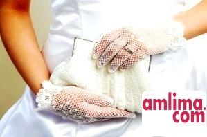 весільні рукавички короткі фото