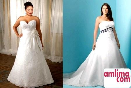 весільні сукні на повних дівчат фото