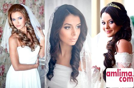 Весільні зачіски з фатою - вибираємо правильне рішення