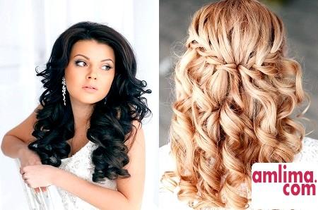 Весільні зачіски з розпущеним волоссям: жіночний і безневинний образ