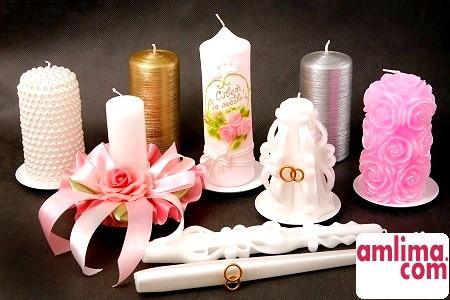 Весільні свічки своїми руками - елегантний аксесуар