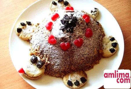 Торт «Черепаха»: улюблений дитячий десерт