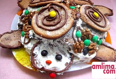 смачний торт черепаха